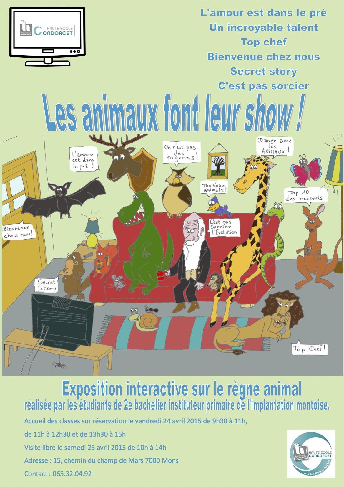 Actualit s haute ecole provinciale de hainaut condorcet - Les animaux font leur show ...